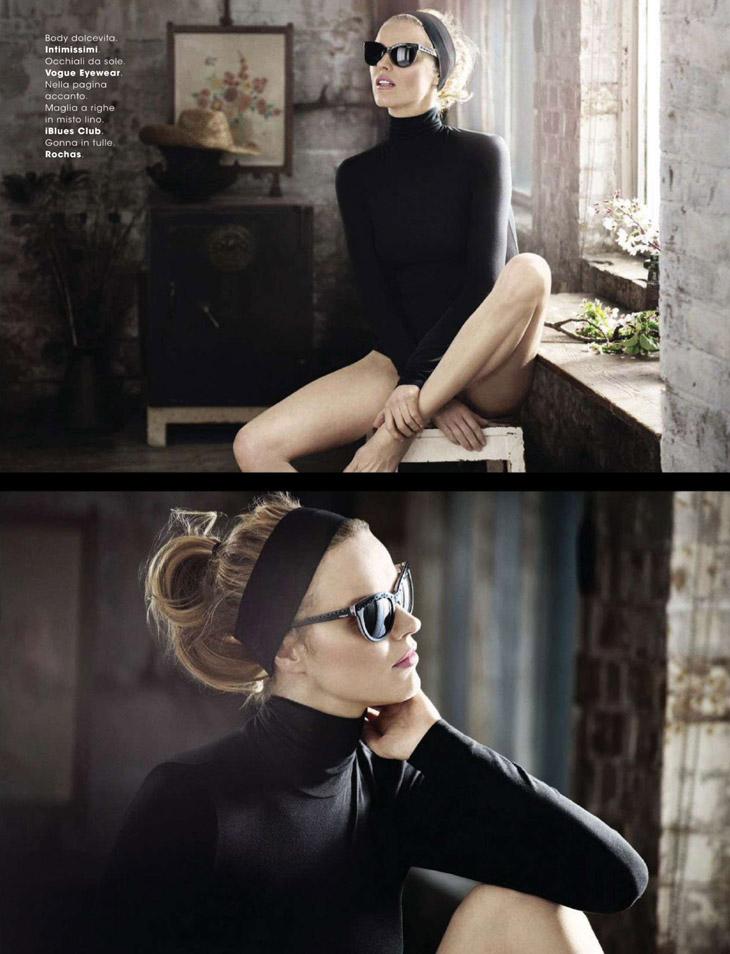 Ева Герцигова в майский номер журнал Glamour Italia 2014