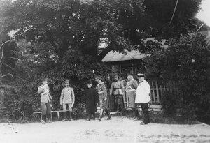 Группа участников встречи императоров Николая IIи Вильгельма II.