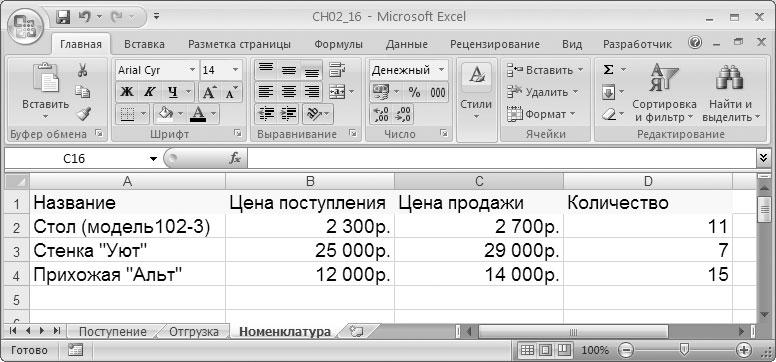 Создаем форму в VBA Excel для учета поступлений и продаж