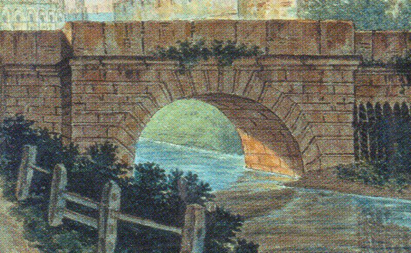 Варваринский мостик через ров. Акварель Ф. Алексеева