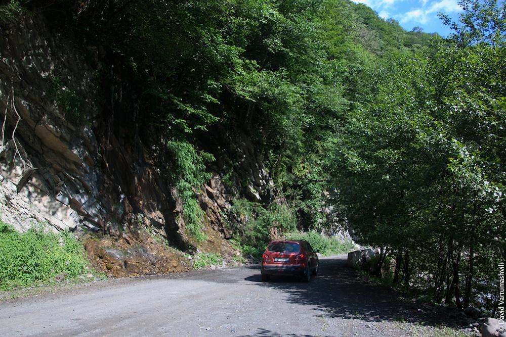 Грузия, дорога в Шатили
