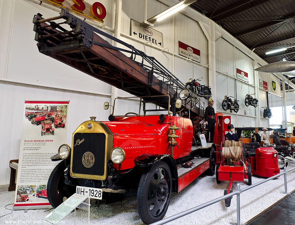 4. Пожарная машина в Auto & Technik Museum Sinsheim (Samyang AE 14mm f/2.8, 1.3 s, f/8, 14 мм, 100)