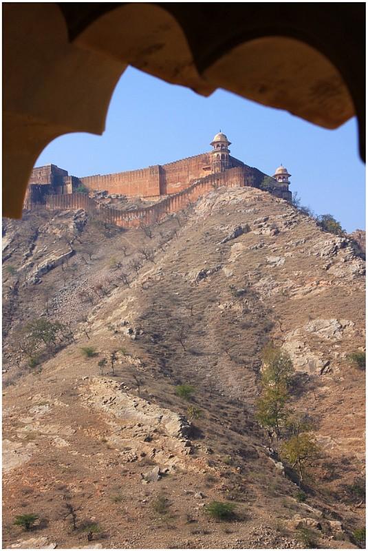 Крепость-дворец Амбер, Джайпура, Раджастан, Индия