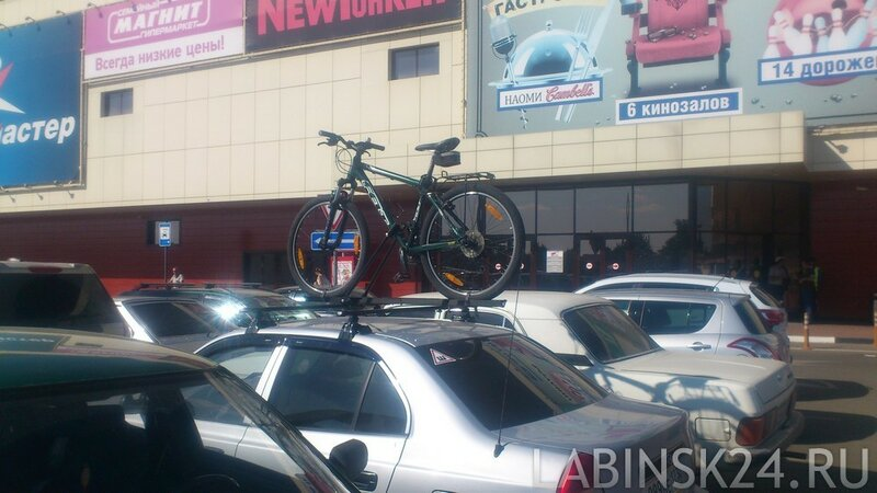 Крепления велосипеда на крышу