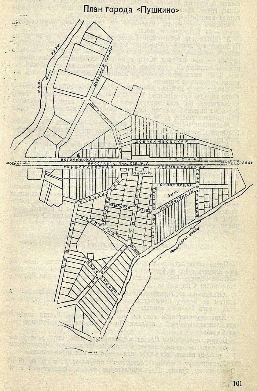 План города Пушкино