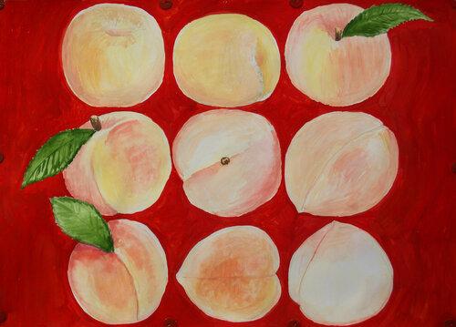 Девять проекций персика