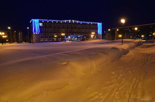 Фото города Инта №7407  Горького 16 и Мира 25а 18.01.2015_16:05