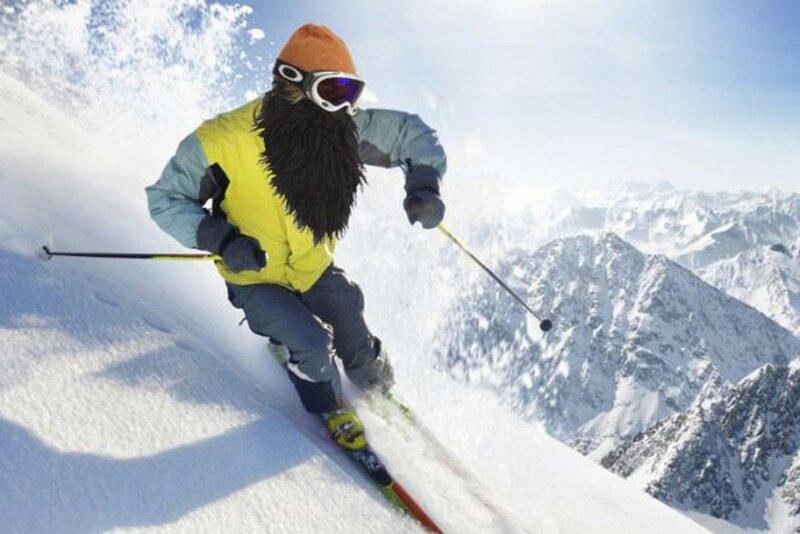 Борода для лыжника   новая теплая маска