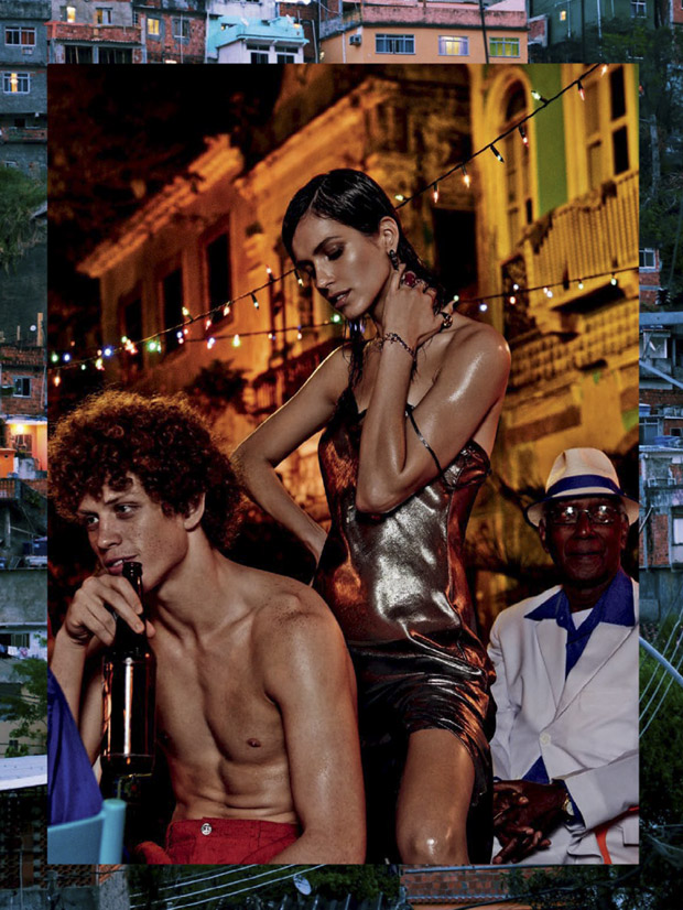 Алина Вебер (Aline Weber) и Аманда Уэллш (Amanda Wellsh) в журнале Vogue Brazil