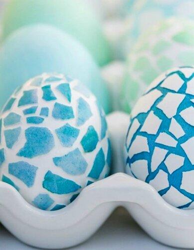 Мозаика яиц скорлупой