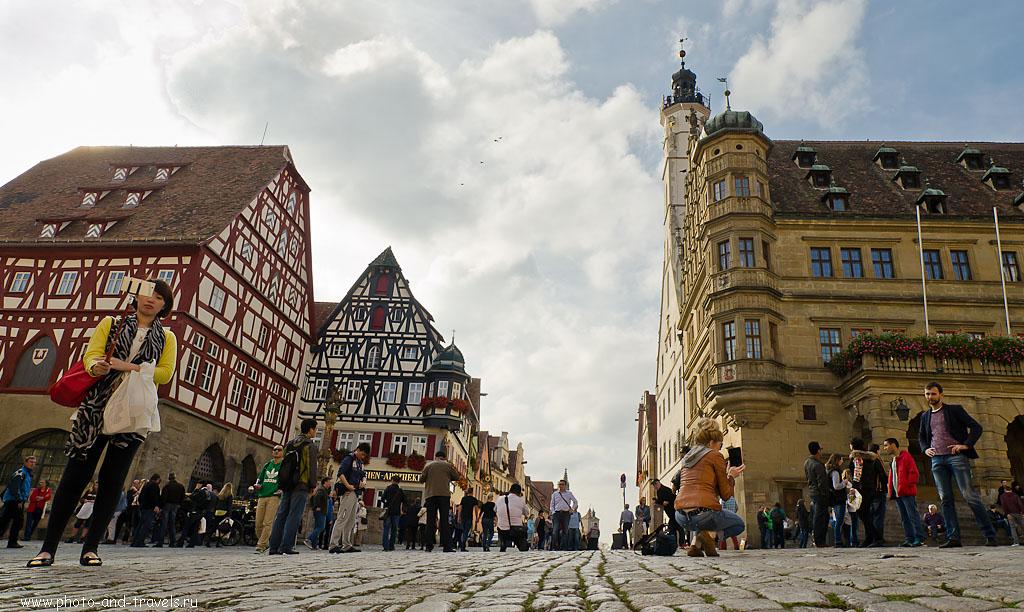 33. Сэлфи на центральной площади Marketplatz в старом городе Ротенбург-на-Таубере