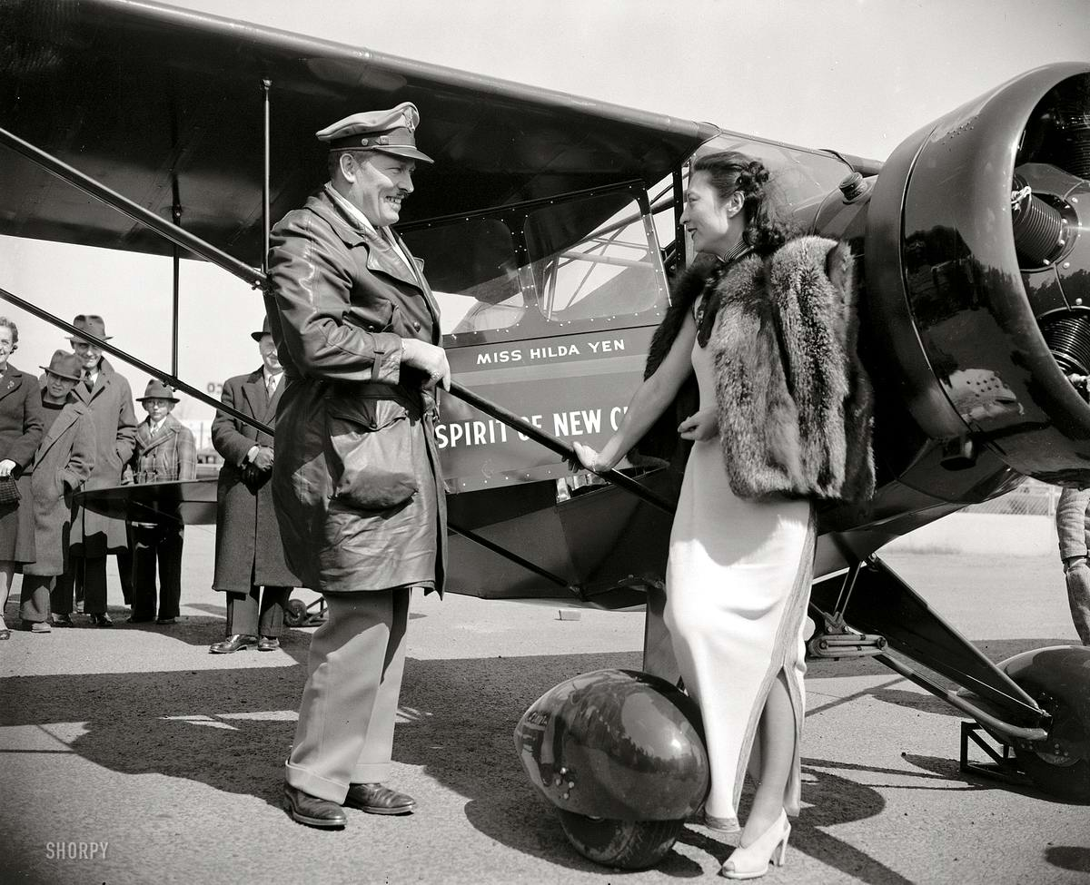 Самолеты и пилоты начала 20-го века на снимках американских фотографов (45)