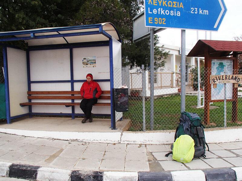 автобусная остановка в г. Кампия, Кипр