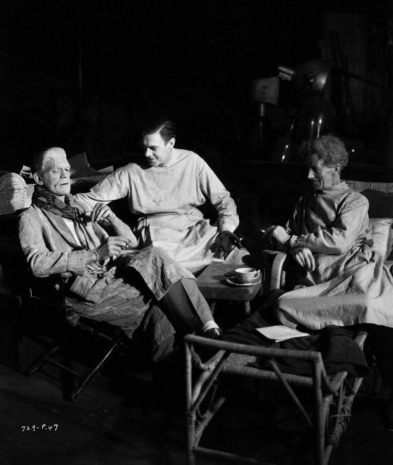 1931. Борис Карлофф на съемках «Франкенштейна»