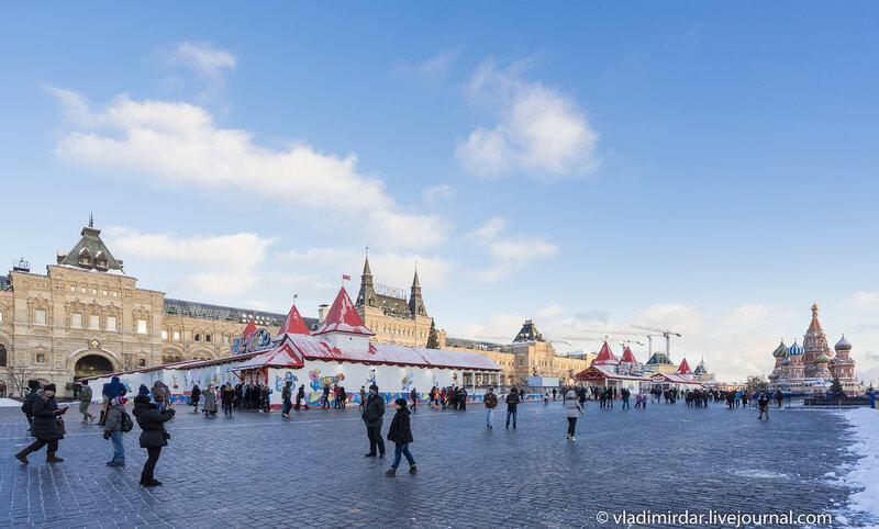 Красная площадь. Предновогодняя Москва 2015 .