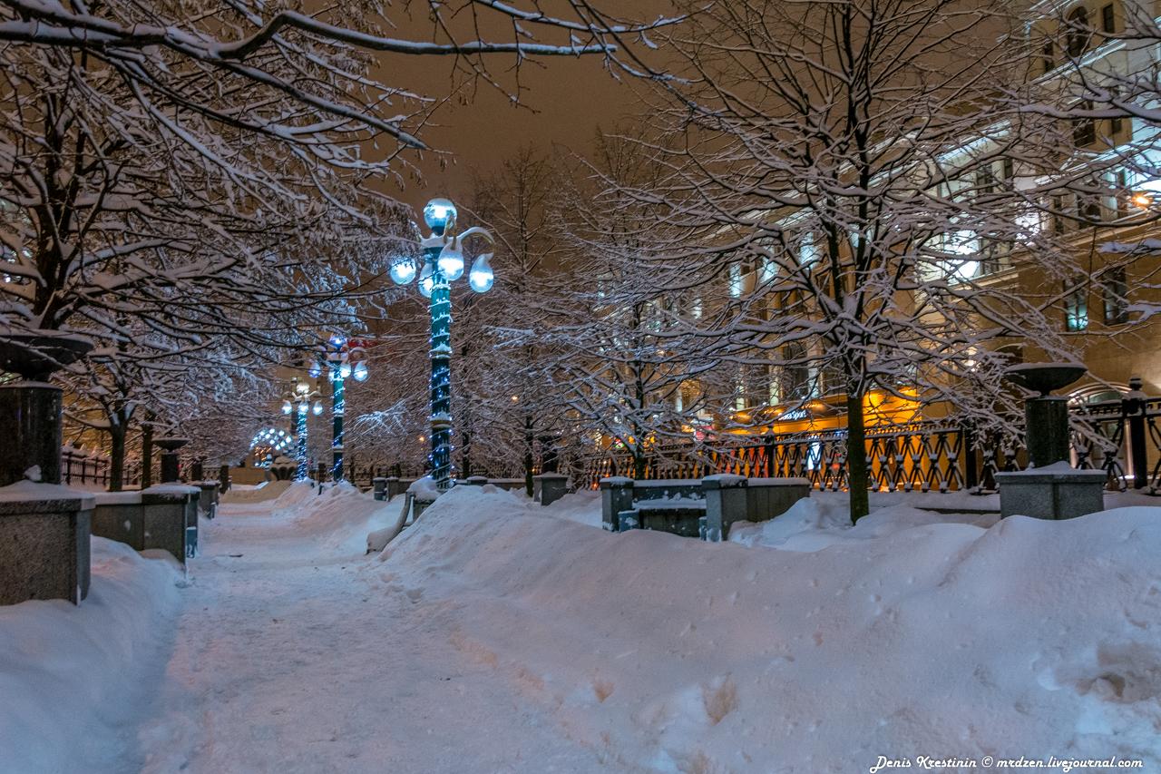 Минск снежный. Даниелла. улица Ленина
