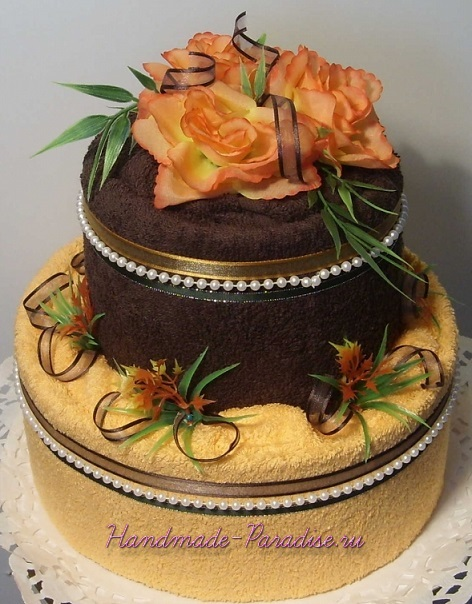 Мужской торт из полотенца