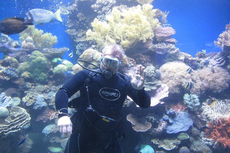 Привет от аквалангистов