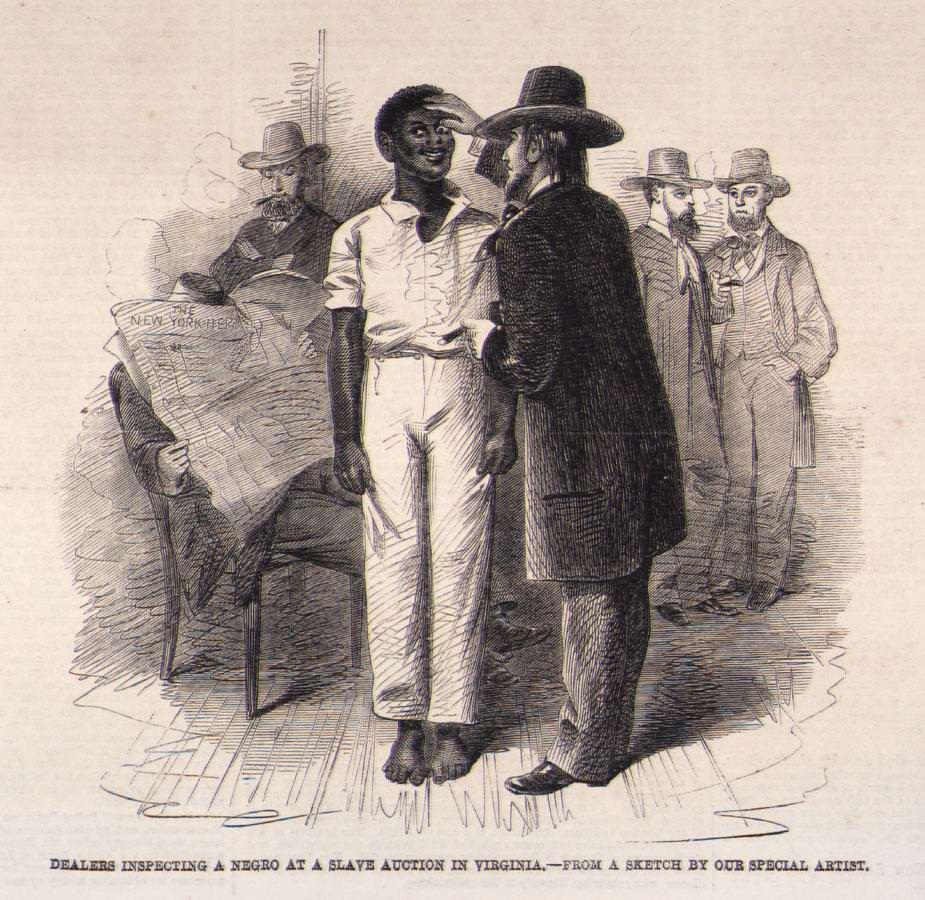 Продажа раба в городе Ричмонд, штат Вирджиния (1861 год)