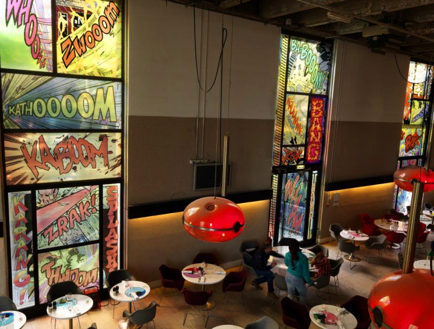 Onomatopoeia stained glass windows, Palais de Tokyo - Christian Marclay.jpg