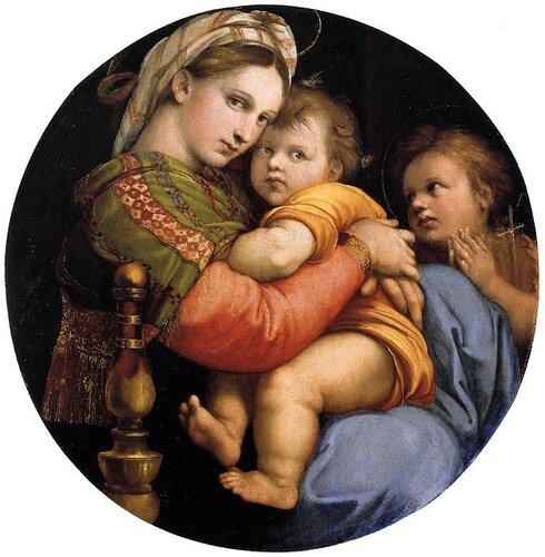 Мадонна в кресле (ок. 1513-1514) Рафаэль Санти(1483-1520)