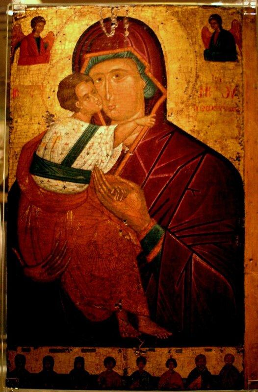 Богоматерь Елеуса. Икона XV века. Византийский музей в Афинах.