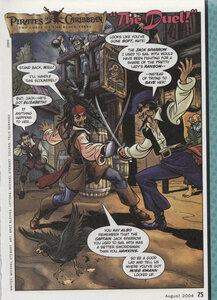 "Комиксы ""Пираты Карибского моря"". ""The Duel!"" (Дуэль)."