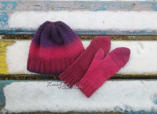 hat, mitts, knitwear, kauni, roventa-handmade, митенки, вязаная шапка, митенки спицами, шапка спицами, Кауни, шапка из Кауни, митенки из Кауни