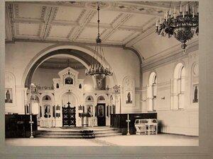 Внутреннее убранство железнодорожной церкви на станции Казалинск