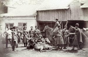 Императорская охрана - Кубанские казаки, Плоешти 1877.