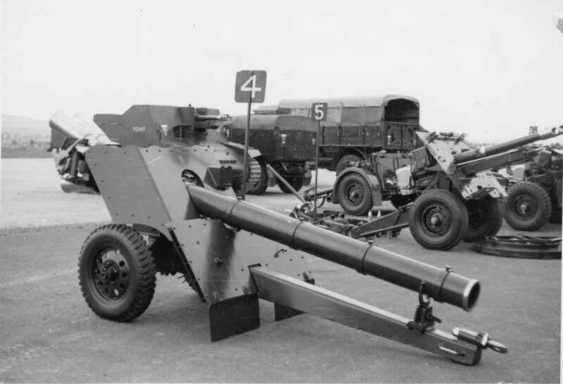 Royal School of Artillery, Larkhill; gun park; recoilless 7.2-inch gun. [P1-384-1844]  http://uhcl.recollect.co.nz/nodes/view/1041#idx944