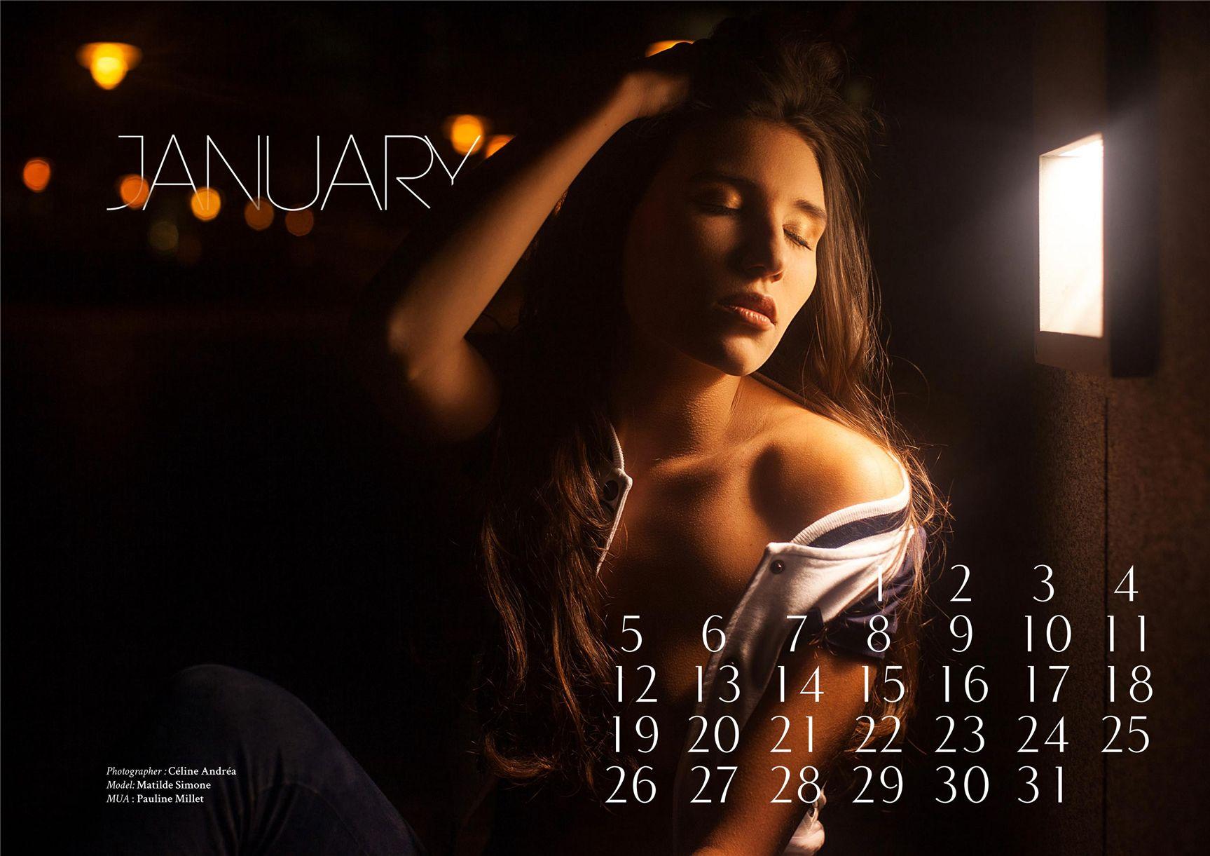 модно-артистический календарь журнала Bizart 2015 calendar - Matilde Simone by Celine Andrea