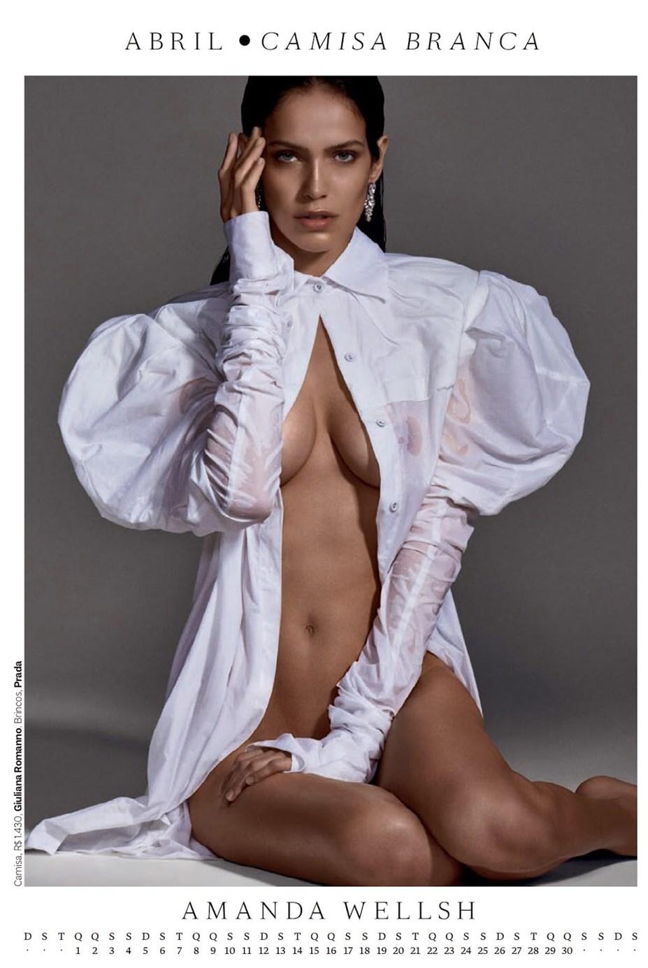 Календарь журнала Vogue Brazil 2015 / Calendar Girl by Zee Nunes - Amanda Wellsh / Аманда Уэллш
