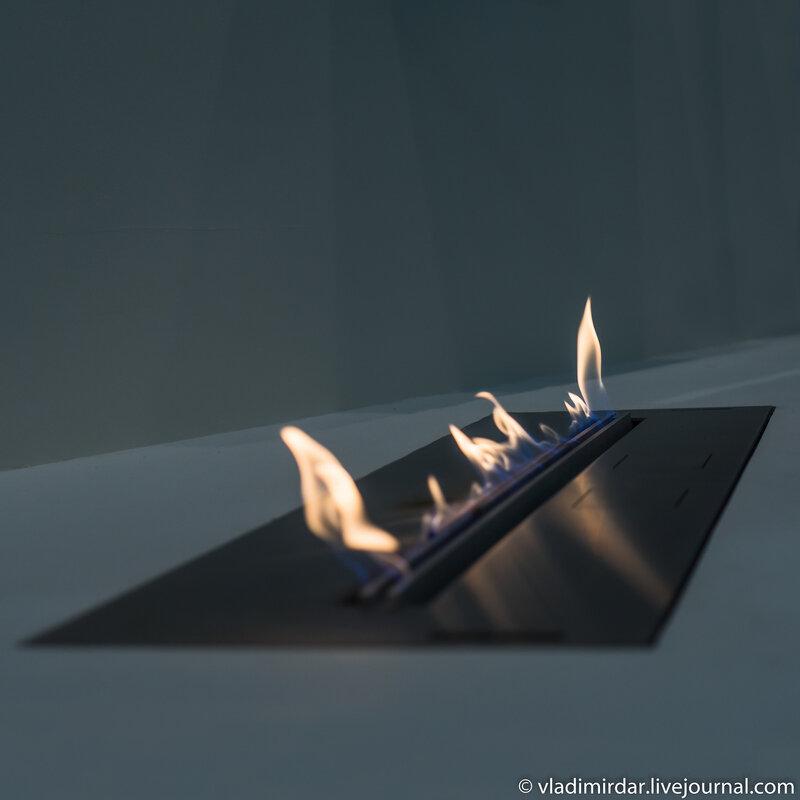 Огонь в интерьере