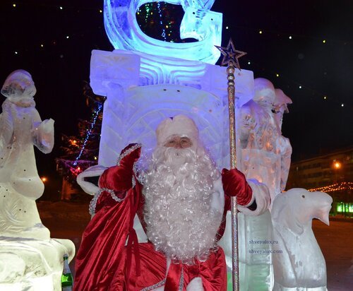 Большая борода Деда Мороза из Кудрявых волос