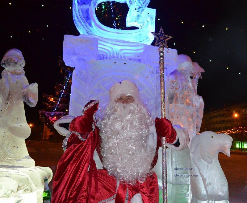 Дед Мороз на ледяном троне