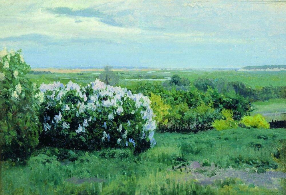 Весна. Кусты сирени. 1898.jpg