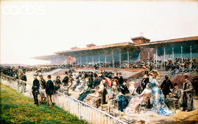 <Paris, the Races at Longchamp> by Ludovico Marchetti