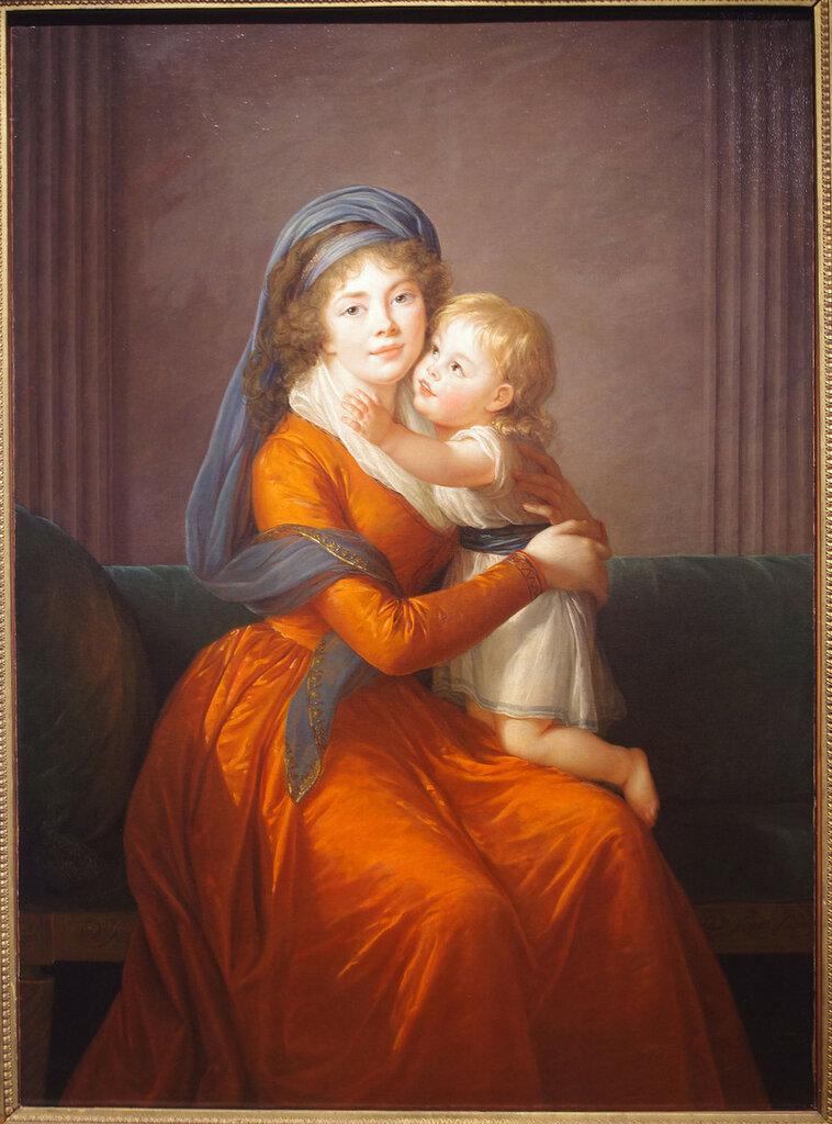 Портрет княгини А.П.Голицыной с сыном Петром.jpg