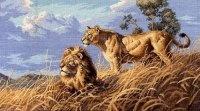 """Книга Схема вышивки """"Африканские львы"""""""