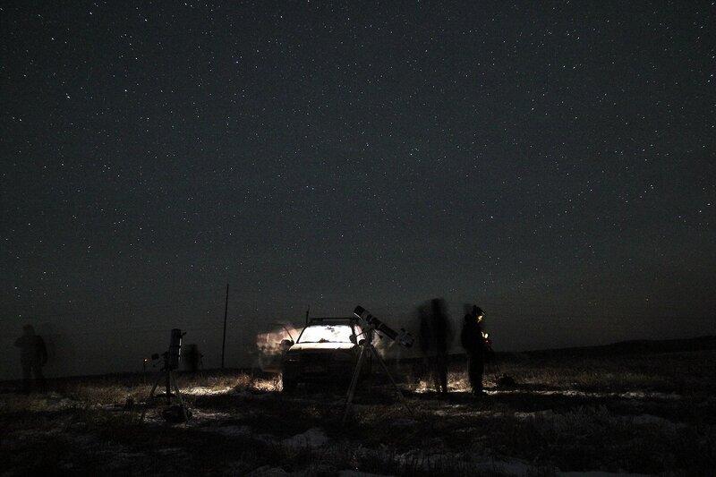Астрономический выезд в Шалегово (Оричи, Кировская область) 23 ноября 2014 г.
