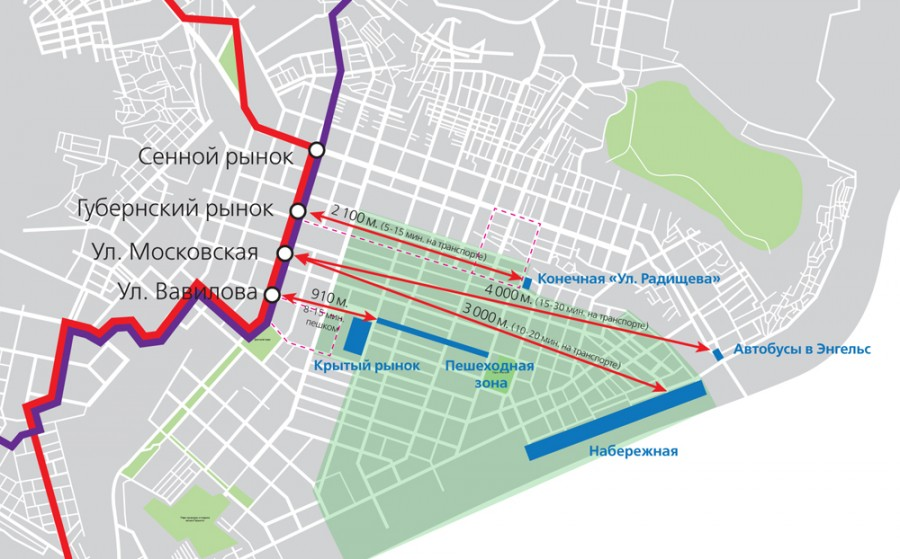 линии скоростного трамвая