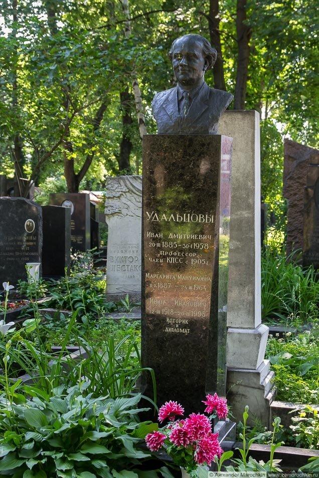 Удальцов Иван Дмитриевич, могила на Новодевичьем кладбище