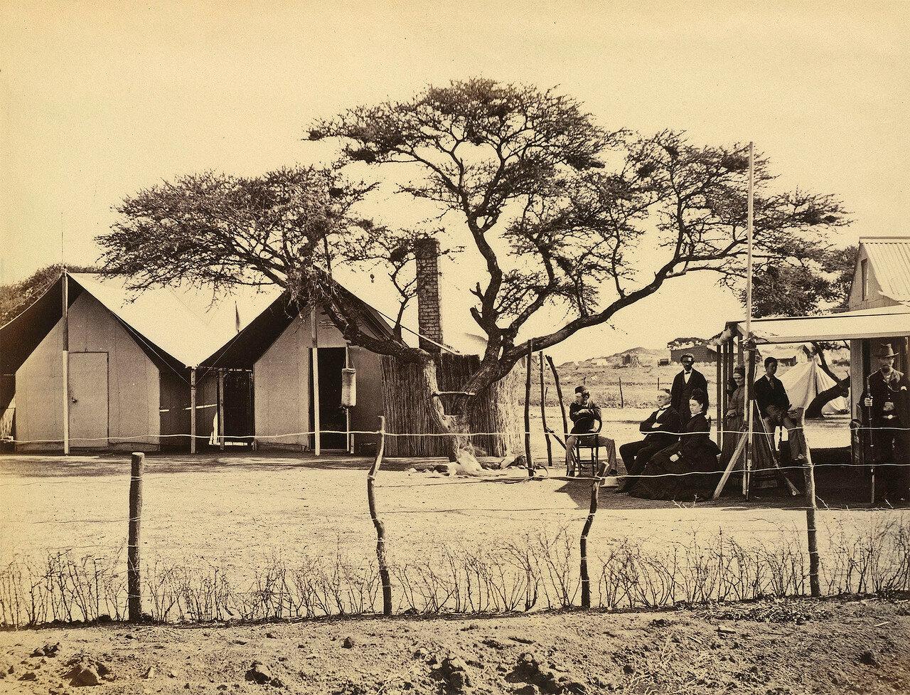 Лагерь вице-губернатора Саути на старой ферме Дэ Бирс
