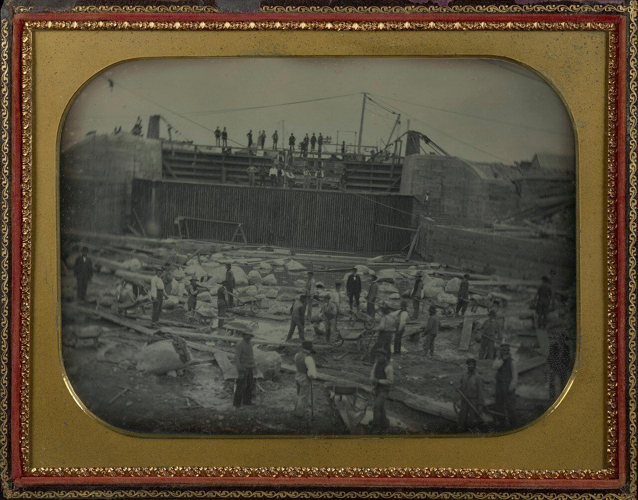 1850. Строительство канала. США