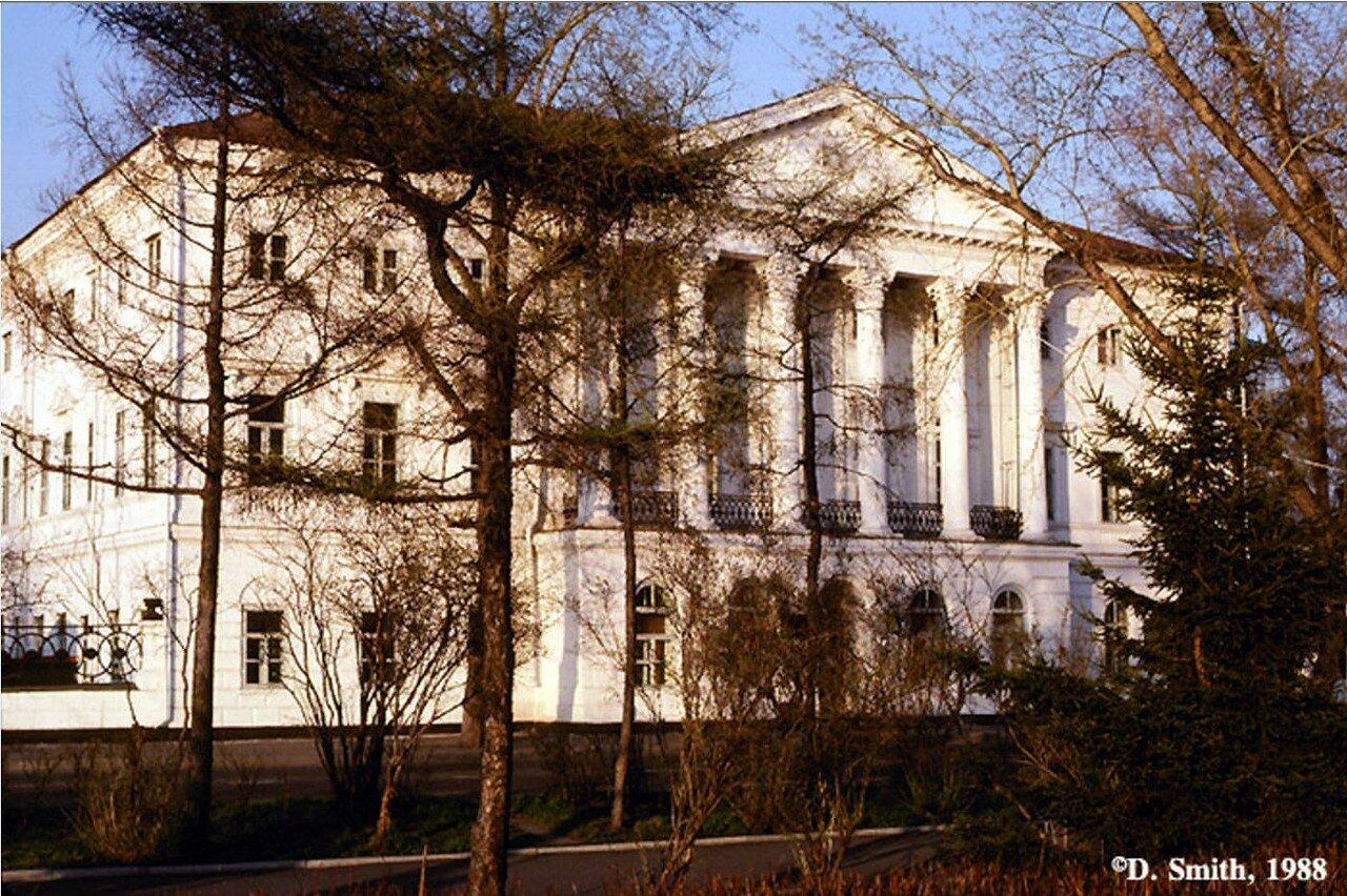 «Белый дом». Научная библиотека Иркутского государственного университета (бывшая резиденция генерал-губернатора)