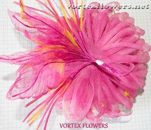 Мастер-класс. Хризантема из ткани «Ягодка» от Vortex  0_fbf97_6eef6c11_M
