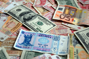 Молдавский лей укрепляется по отношению к евро