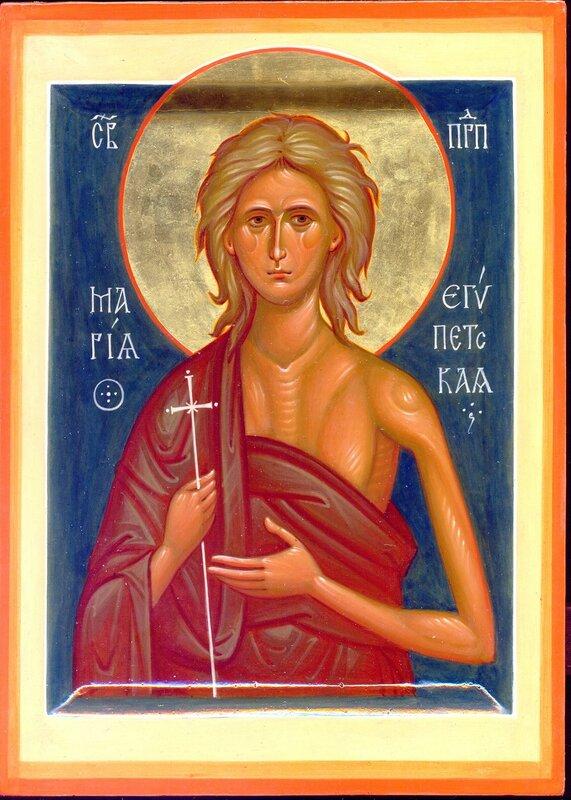 Святая Преподобная Мария Египетская. Иконописец Наталия Пискунова.