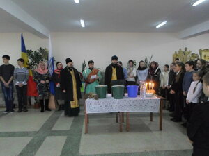 """Botezul Domnului celebrat la liceul """"V.Alecsandri"""""""